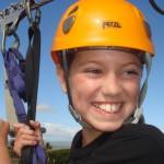 Tyler ziplining